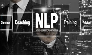 NLP concept is shown by businessman.