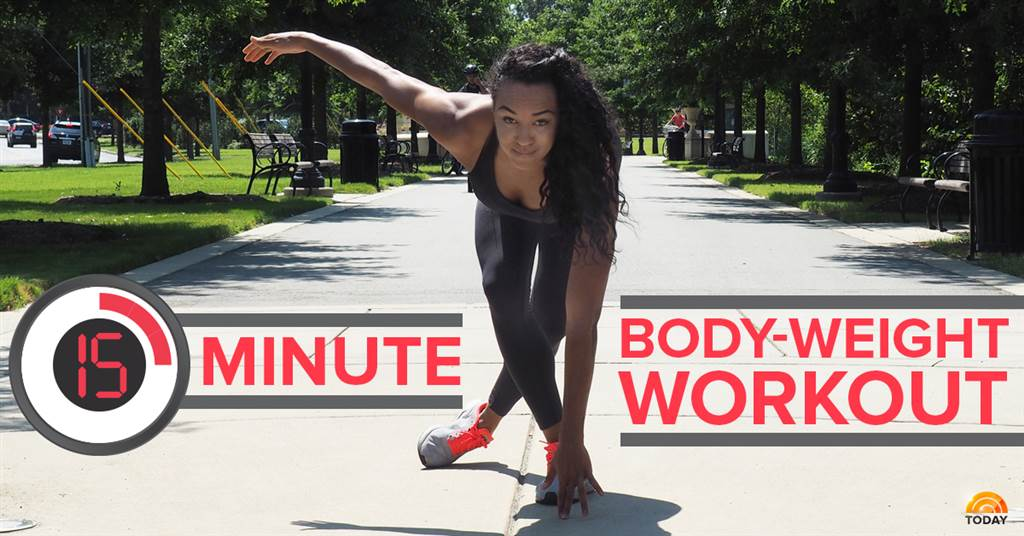 A woman HIIT training