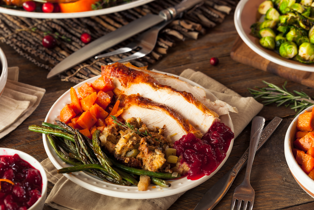 A healthy Thanksgiving meal