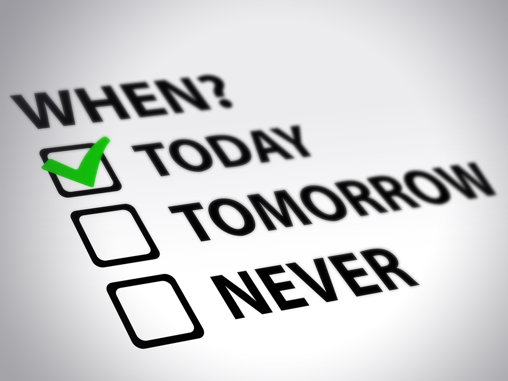 A checklist for starting today